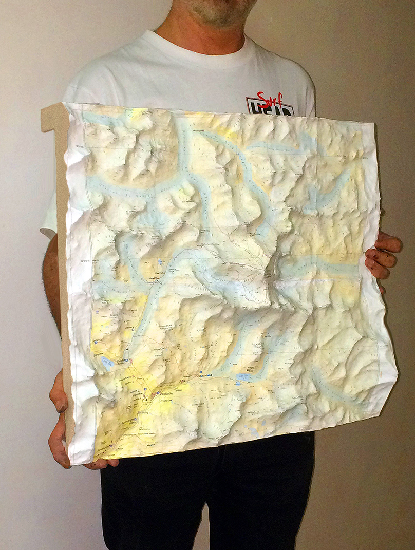 Mount everest Bespoke 3D map